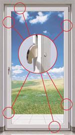 Stahl-Kreiszunge, Sicherheitsbeschläge für Balkontür, Terrassentür, Fensterbeschlag, Fensterbeschläge, Sicherheitsbeschlag, Roto Frank, Drehkipp-Fenster, Drehkipp-Fenstertür, Balkontüren, Terrassentüren