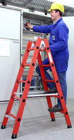 Vollkunststoff-Leiter, Leiter aus Kunststoff, Kunststoff-Leiter, Vollkunststoff-Leitern, Leitern aus Kunststoff, elektrische Anlagen, chemische Industrie, Kunststoff-Leitern, Kühlhäuser