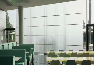 folien verbessern raumakustik im posttower transluzente akustikfolie. Black Bedroom Furniture Sets. Home Design Ideas