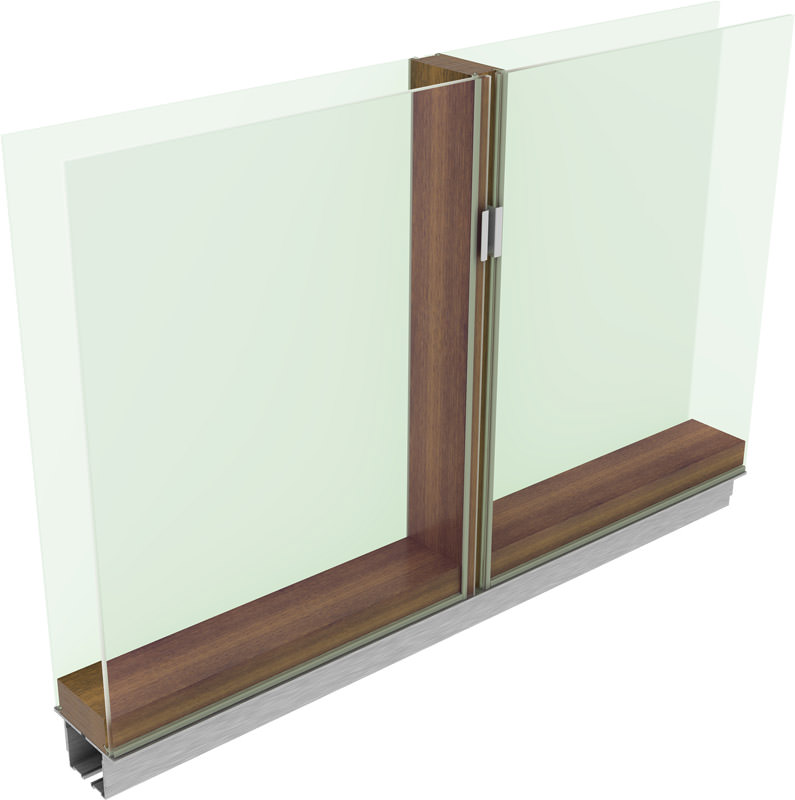 Neues str hle trennwandsystem kombiniert holz und glas fl chenb ndig system t mit fl chenb ndiger - Trennwand holz innen ...