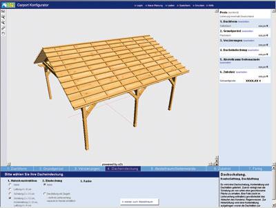 o2c gesichtet: Carport-Planung online am 3D-Konfigurator