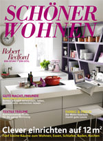wie kleine r ume gr er wirken verr t sch ner wohnen in der juni ausgabe. Black Bedroom Furniture Sets. Home Design Ideas