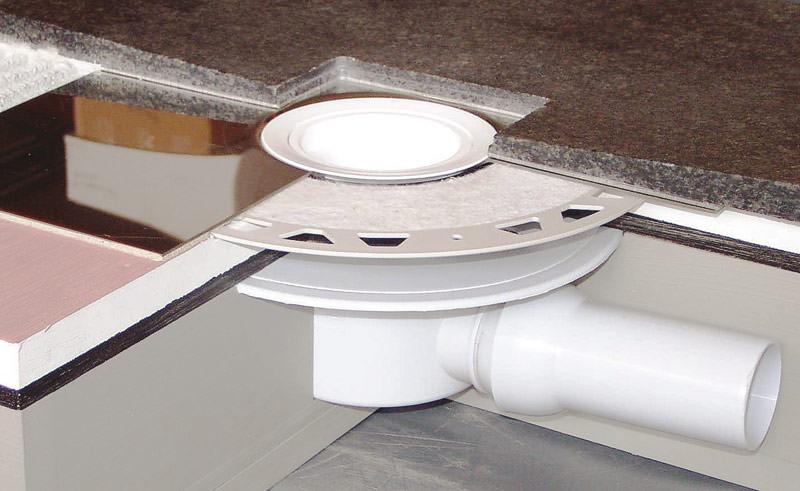 spezialit t abl ufe f r einteilige naturstein duschtassen. Black Bedroom Furniture Sets. Home Design Ideas