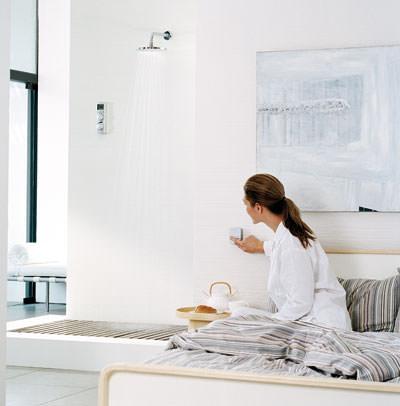 grohe duscht digital aber noch mit nassem wasser. Black Bedroom Furniture Sets. Home Design Ideas