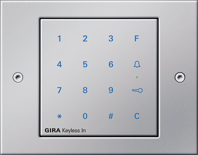 gira keyless in zutrittskontrolle neuester generation mit codetastatur transponder. Black Bedroom Furniture Sets. Home Design Ideas