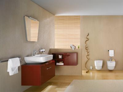 trapezkünstler im badezimmer | badkollektion mit doppelwaschtisch, Badezimmer