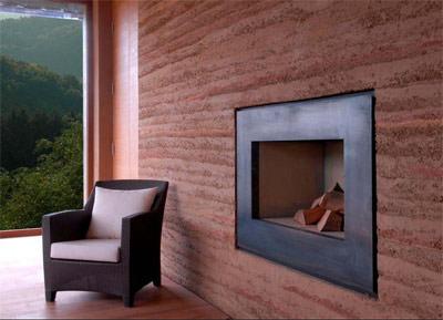 reiz und allergenarmes raumklima durch lehmwand und. Black Bedroom Furniture Sets. Home Design Ideas