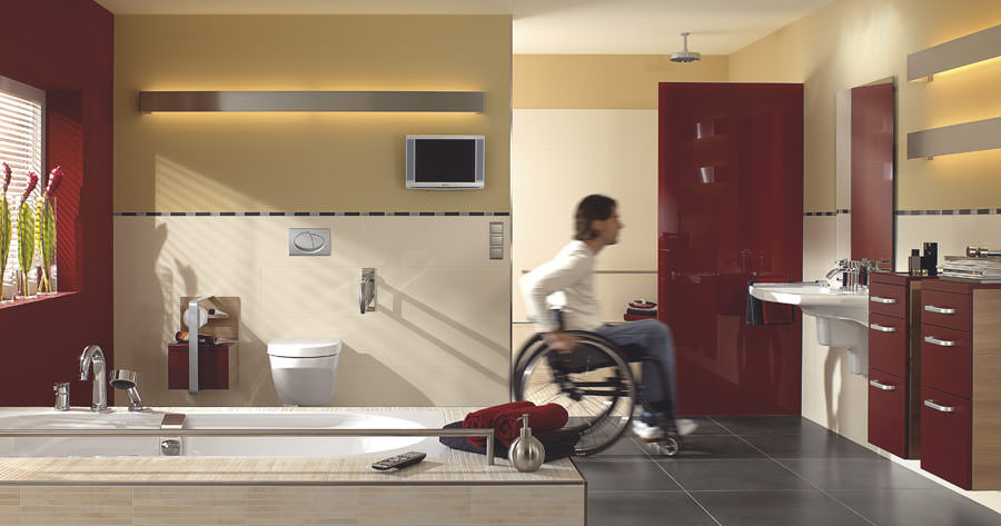 Waschbecken Behindertengerecht : Barrierefreie badplanung