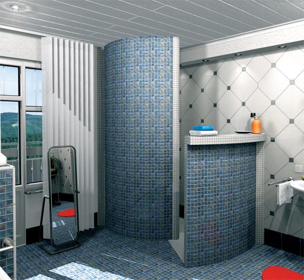 Duschen als verfliesbare Bausätze  Schneckendusche und ...
