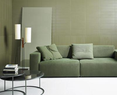 Italienische Wandfliesen Wollen Ins Wohnzimmer Weißscherbiges - Wandfliesen wohnzimmer