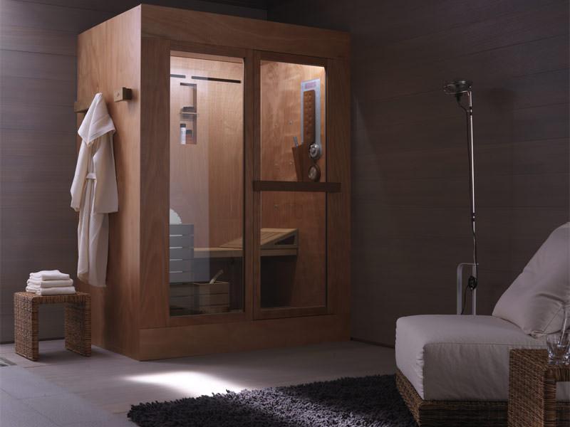 3 in 1 sauna dampfbad und dusche in tris trockensauna mit hydromassage. Black Bedroom Furniture Sets. Home Design Ideas