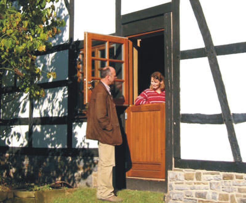 Klöntür als Haustür oder Eingangstür
