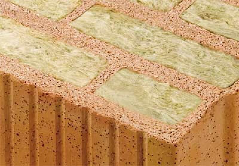 Steinwolle gefüllter Mauerziegel, Mein Ziegelhaus, Minerallwolle, Steinwolle, Wärmeverbundsystem, Wärmedämmung, Perlite