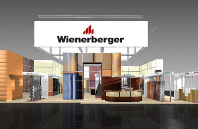 wienerberger f r dach und wand auf der deubau poroton. Black Bedroom Furniture Sets. Home Design Ideas