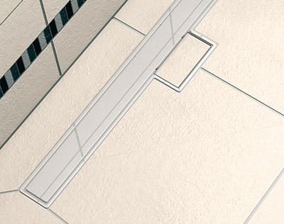 bodengleiche duschtasse tub line mit ablaufrinne. Black Bedroom Furniture Sets. Home Design Ideas