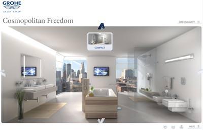 Grohe 3D Cube   Inspirationen Fürs Bad | Virtuell Badezimmer Gestalten, Bad  Planen