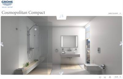 grohe 3d cube inspirationen f rs bad virtuell badezimmer gestalten bad planen. Black Bedroom Furniture Sets. Home Design Ideas