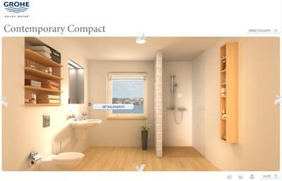 Grohe 3D Cube - Inspirationen fürs Bad | virtuell Badezimmer ...