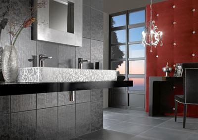 Lust auf prunk und pracht im badezimmer schlichter rechteckwaschtischmit bl tendekor - Swarovski badezimmer ...