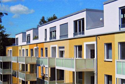Stahlleichtbau, Stahl-Leichtbauweise, Nachverdichtung, Aufstockung, Stahlbau, Penthouse, Holzwerkstoffplatten, Gipskartonplatten, Staffelgeschoss