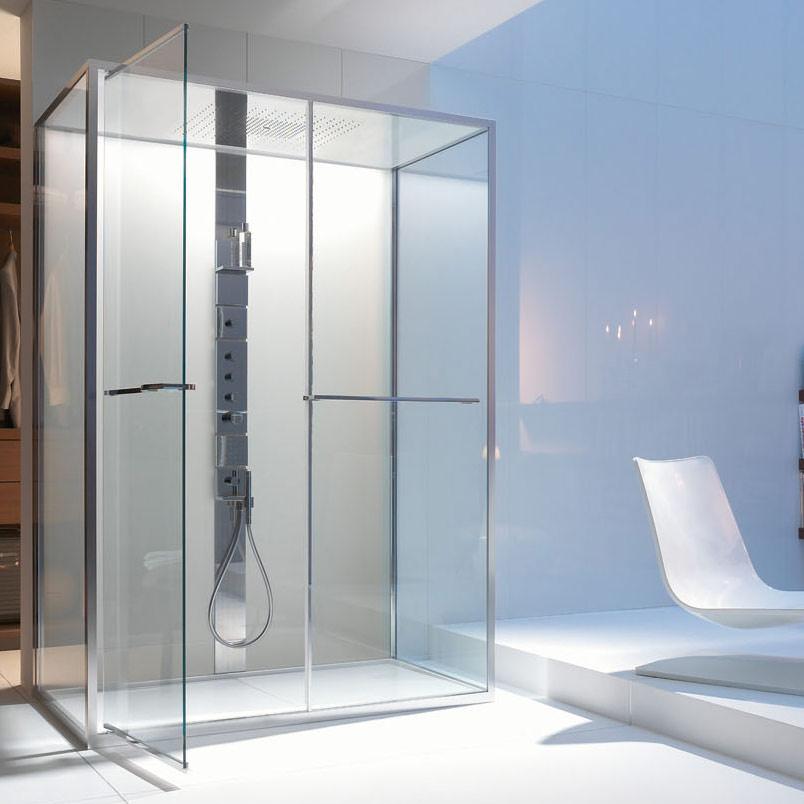haute couture f r die dusche von axor duschmodul von philippe starck und hansgrohe. Black Bedroom Furniture Sets. Home Design Ideas