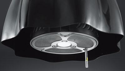 Artemide kreuzt hangeleuchte mit dunstabzugshaube for Küchenabzugshauben