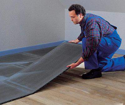 trittschalld mmung aus gummigranulatmatten f r die. Black Bedroom Furniture Sets. Home Design Ideas