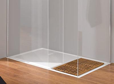 ausgezeichneter duschbereich kombiniert stahl email echtholz glas. Black Bedroom Furniture Sets. Home Design Ideas