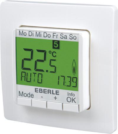 neuer unterputz thermostat von eberle controls instat 8 heizungsthermostat mit fernf hler. Black Bedroom Furniture Sets. Home Design Ideas