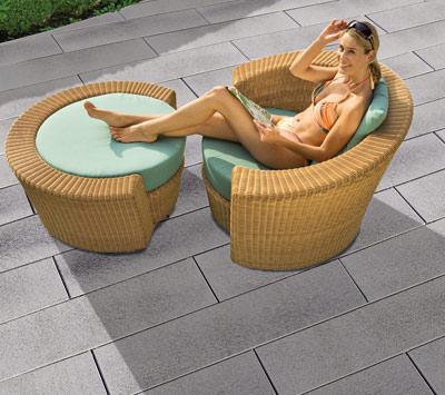 neues plattenprogramm von stein design gro formatige betonplatten und largo platten mit. Black Bedroom Furniture Sets. Home Design Ideas