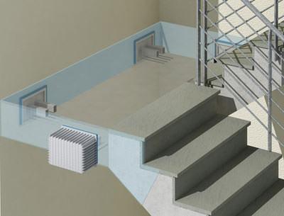 konstruktive ruhe im treppenhaus schallbr ckenfreier treppenbau mangelnder schallschutz bei. Black Bedroom Furniture Sets. Home Design Ideas
