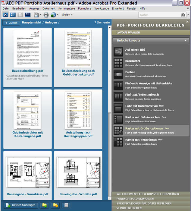 adobe acrobat pdf portfolio option