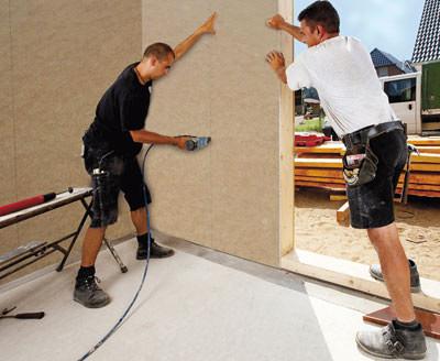 gipsfaserplatten f r holzrahmenbau mit eingebauter dampfbremse. Black Bedroom Furniture Sets. Home Design Ideas