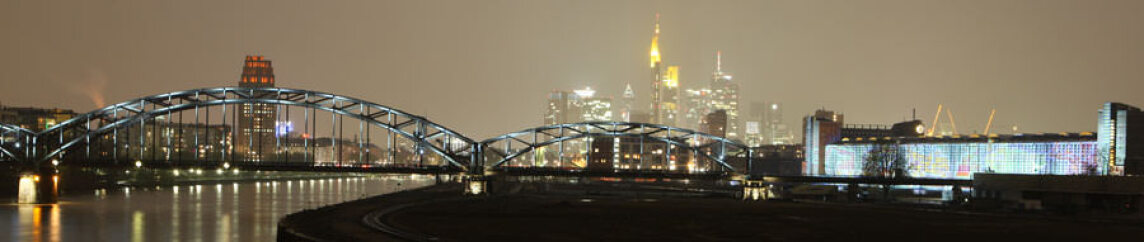 Frankfurt Nacht Panorama