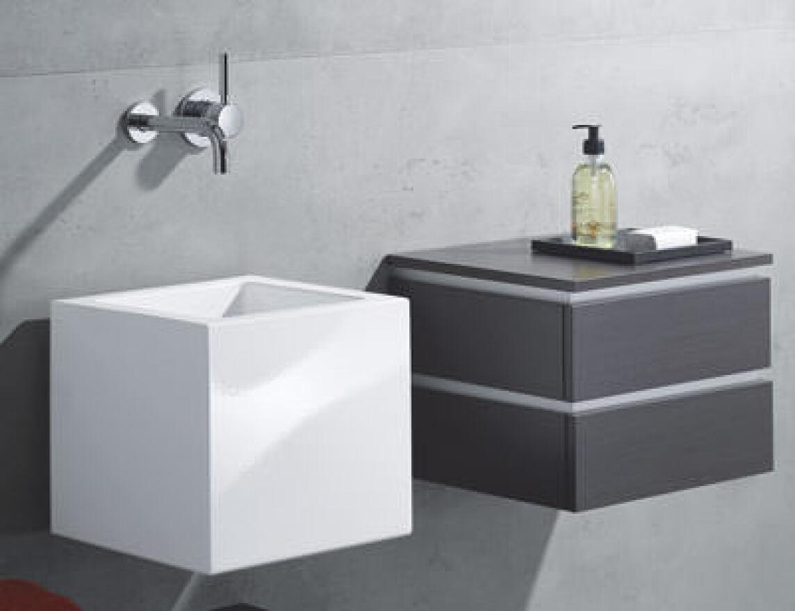 kubismus pur alape becken im quadrat q becken ein. Black Bedroom Furniture Sets. Home Design Ideas