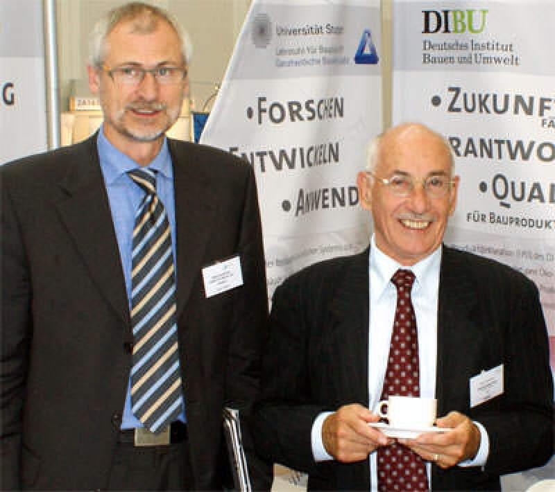 DIBU-Präsident Prof. Horst Bossenmayer, geschäftsführender Vorstand Dipl.-Ing. Hans Peters