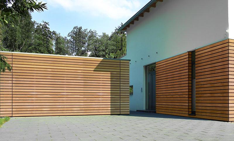 Fassadengestaltung holzoptik  Flächenbündiges Garagentor | House gear | Pinterest | Hörmann ...