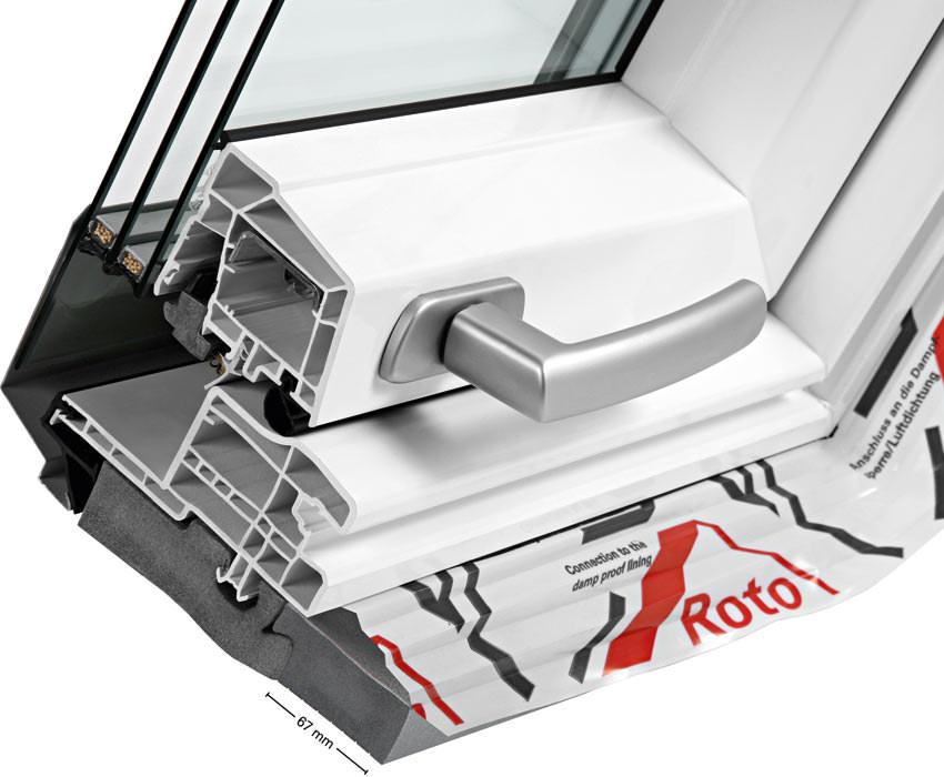 Dachflächenfenster detail roto  Weltpremiere: Wohndachfenster Roto Designo R8 NE ...