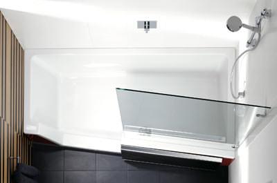 Badewanne mit duschbereich  Duschen und Baden mit Schiebetür