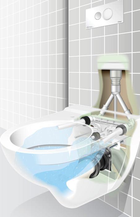 3 5 Liter Wc Radarkontrolle Im Urinal Ausgezeichnete Wc Montage