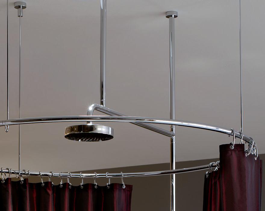Duschvorhang Freistehende Dusche : oder schon Wellness-B?hne freistehende Dusche von Kaldewei