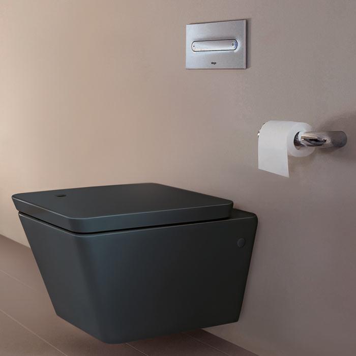 Ilbagnoalessi dOt bringt matt-schwarze Keramik ins Bad