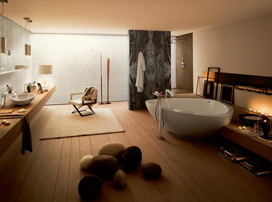 bad freistehende badewanne dusche – truevine, Badezimmer