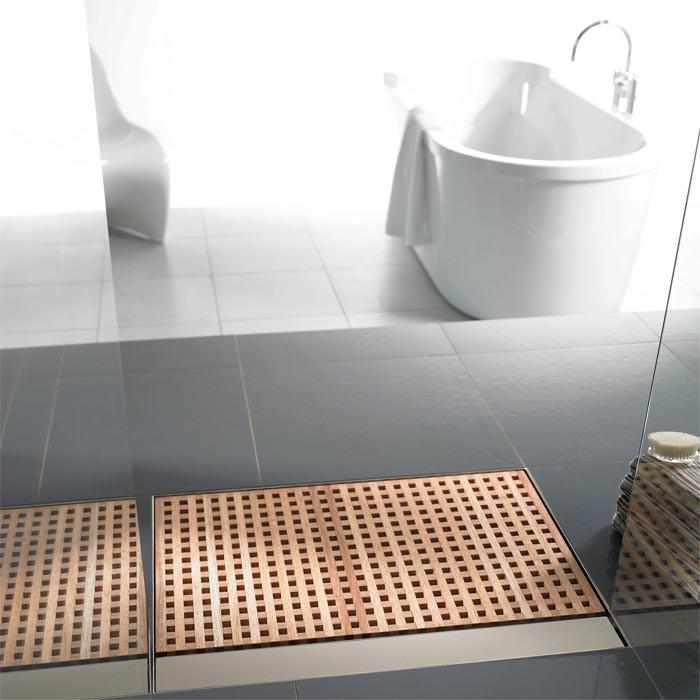 duschentw sserung mit holzrost entw sserungswanne mit duschablauf. Black Bedroom Furniture Sets. Home Design Ideas