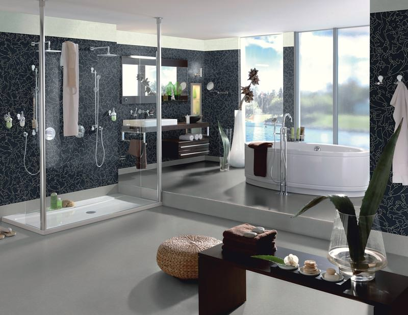 wetroom vinyl kollektion f r boden und wand wandbelag aus kunststoff. Black Bedroom Furniture Sets. Home Design Ideas