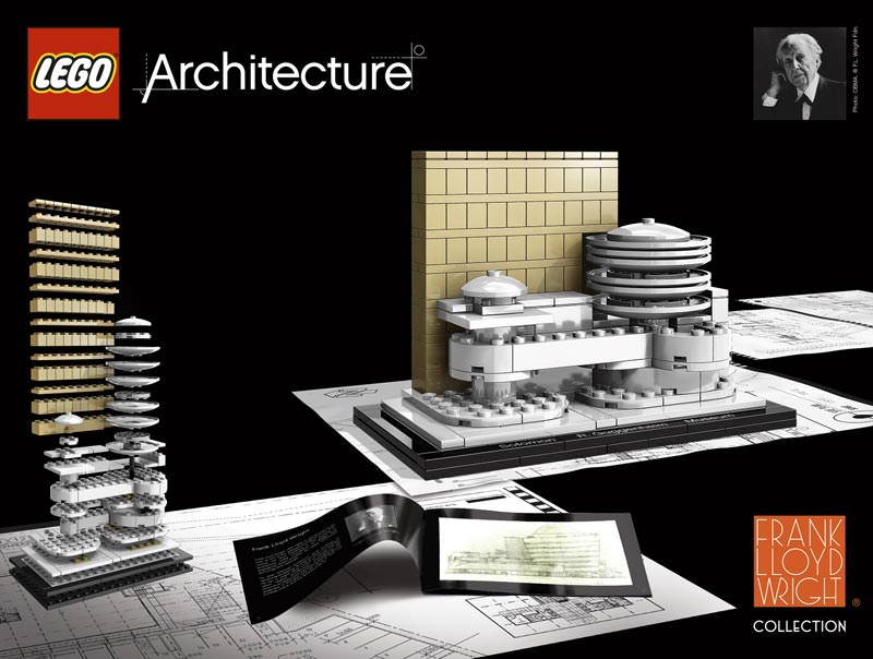 bauwerke von frank lloyd wright als lego architecture modelle. Black Bedroom Furniture Sets. Home Design Ideas