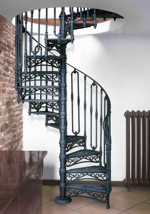gusseiserne wendeltreppen und gel nder f r individuelle wohnkonzepte nostalgische. Black Bedroom Furniture Sets. Home Design Ideas