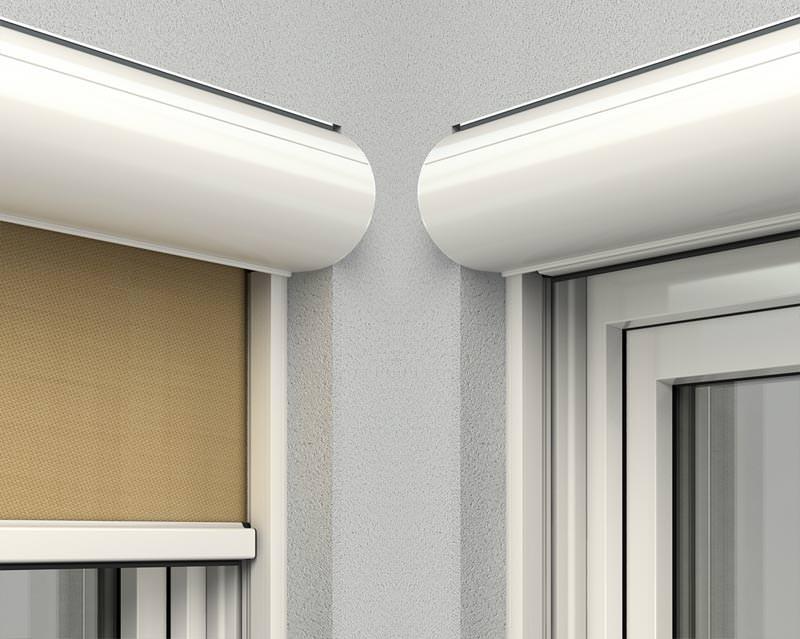 neuer au enliegender textiler sonnenschutz von roma luftzirkulation. Black Bedroom Furniture Sets. Home Design Ideas