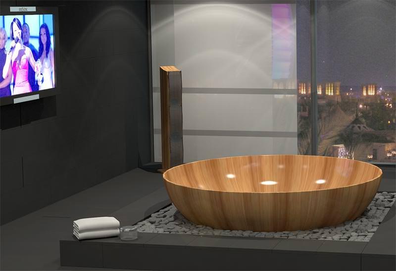 Drei Neue Exklusive Holz Badewannen Von Bagno Sasso