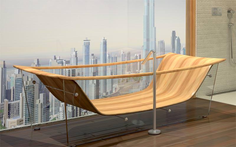 drei neue exklusive holz badewannen von bagno sasso luxusbadewannen aus holz. Black Bedroom Furniture Sets. Home Design Ideas